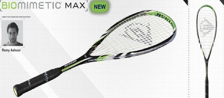 Dunlop Biomimetic Max 2012 Squash Racquet