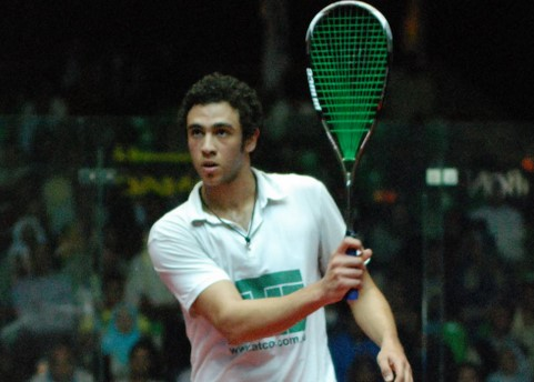 Ramy Ashour using the Prince Airstick 130 Squash Racquet