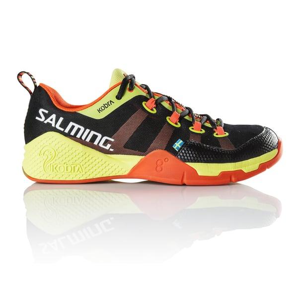 Salming Kobra Black Shocking Orange Indoor Court Shoes