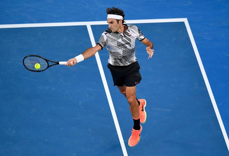 Roger Federer Inside Out Forehand