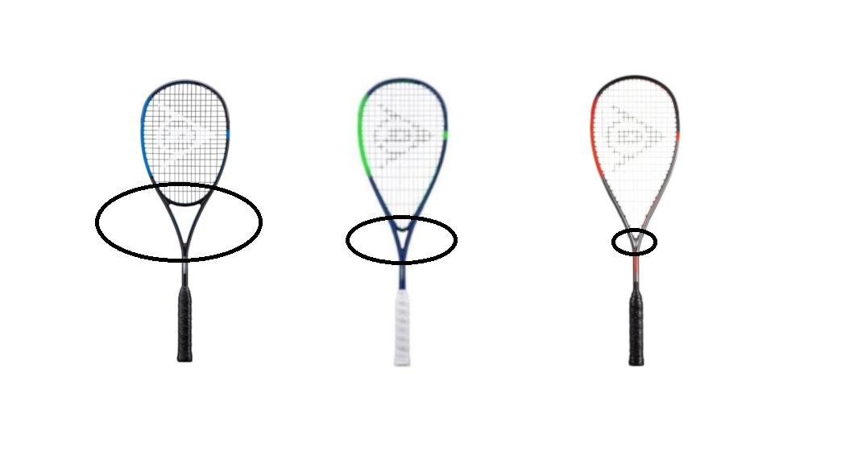 Squash Racquet Throat